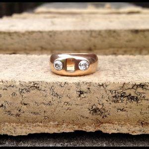 Vintage Gold & Diamond Ring needs a center stone